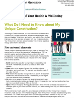What Do I Need to Know about My Unique Constitution?   Taking Charge of Your Health & Wellbeing