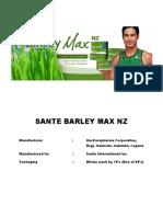 Sante Barley Max Nz Documents