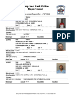Evergreen Park Arrests Dec. 24, 2015-Jan. 4, 2016