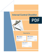 UF Internal Control Checklist