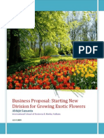 Business Proposal for New Flower Business