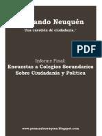 Informe Final - Encuestas a Colegios Secundarios sobre Ciudadanía y Política
