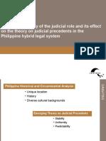 Comparative Study Judicial Precedent Hybrid System