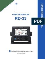 Furuno Rd-33 Manual