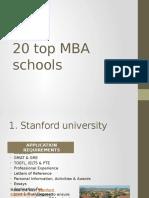 20 top MBA schools