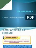 Air Pressure Factors