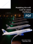 Modeling Aircraft Loan and Lease Portfolios