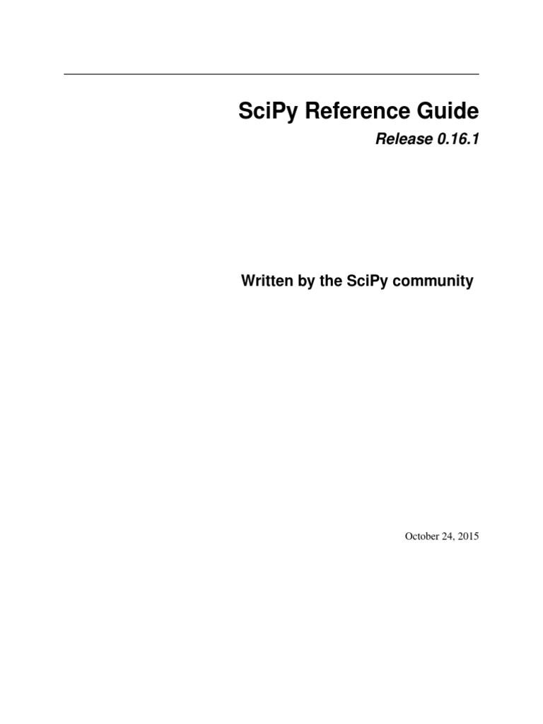 scipy-ref-0 16 1 pdf
