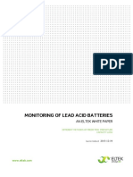 Monitoring of Lead Acid Batteries v1 - An Eltek White Paper