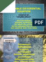 Presentasi PERSAMAAN DIFFERENSIAL TERPISAH