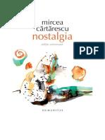 Nostalgia de Mircea Cărtărescu