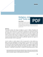 Religion, violence and holy wars