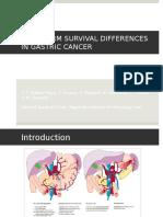 Modificare supravietuirii in cancerul gastric