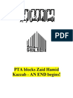 PTA Blocks Zaid Hamid Kazzab - An END Begins