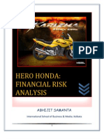 Financial Risk Analysis, HERO HONDA
