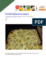 Cartofi Frantuzesti Cu Ciuperci