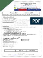 Corrige Francais 2014 4AP T2 Sujet2
