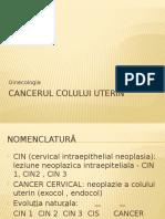 CIN Si Cancerul Colului Uterin