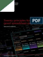 166 Twenty Principles for Good Spreadsheet Practice