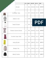 Fall 15 Inventory Photo Sheet
