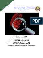 Criminologie. teorii sociale