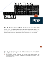 Accounting for Special Education Fund