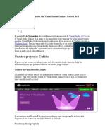 Desarrollo de Un Proyecto Con Visual Studio Online