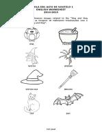 Halloween Worksheet 1º Ano