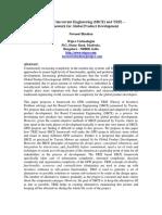Bhushan Set Based Concurrent Engineering and TRIZ Framework for Global Product Development