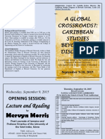 Caribbean Conference Schedule, Howard University, 2015