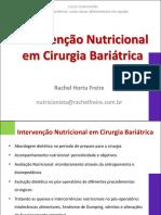 Intervenção Nutricional em cirurgia bariátrica
