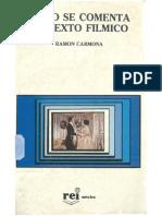 Carmona, Ramon Como Se Comenta Un Texto Filmico