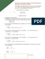 Método de Cramer d