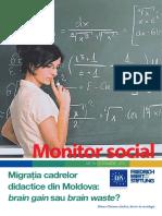 migraţia cadrelor didactice