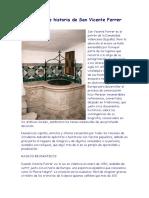Breve Biografía de San Vicente Ferrer