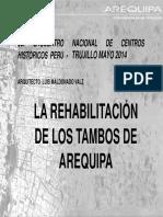 Rehabilitación Tambos del Centro Histórico de Arequipa