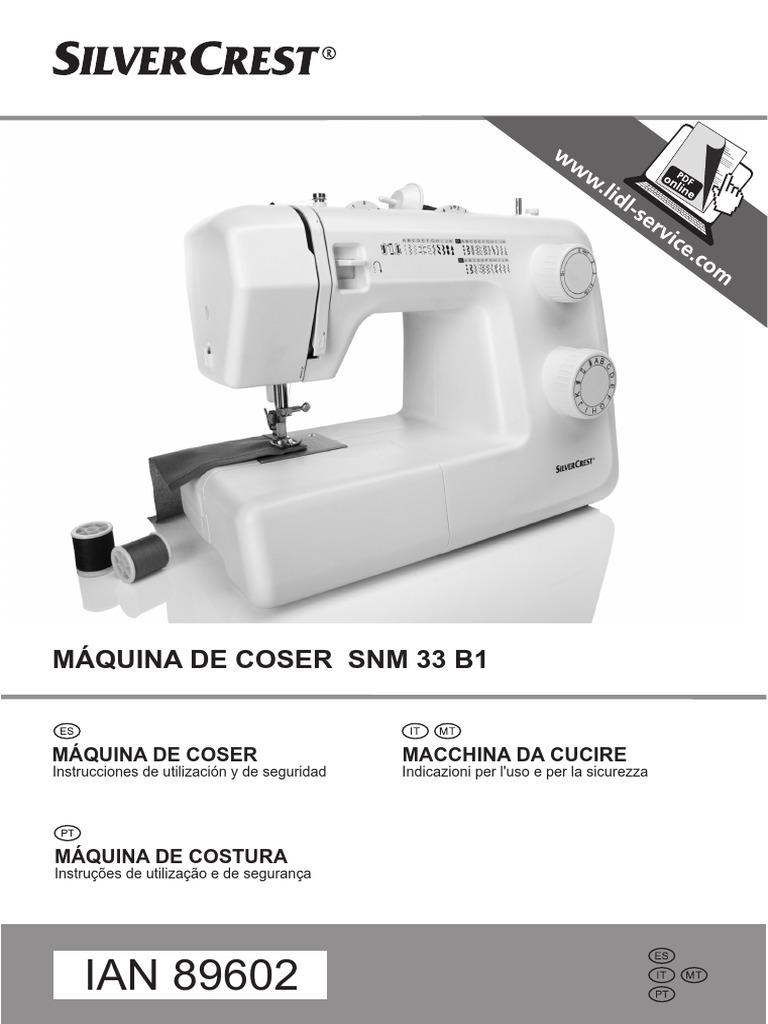 Manual SilverCrest SNM 33 B1-ES | Máquina de coser