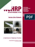 NCHRP 474_Service Lyfe of Culverts -TRB