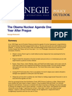 The Obama Nuclear Agenda One Year After Prague
