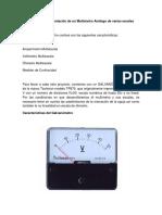Diseño e Implementación de Un Multimetro Analogo Multiescala