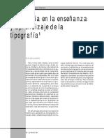 La Historia en La Enseñanza y Aprendizaje de La Tipografía