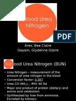 BUN Blood Urea Nitrogen