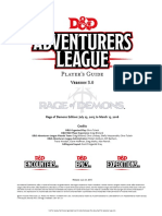 Adventurers League - Player's Guide v3 Printer Friendly