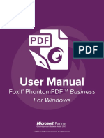 FoxitPhantomPDFBusiness71 Manual
