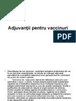 Adjuvanţii Pentru Vaccinuri