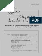 Burnout Among Special Education Teachers