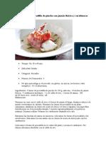 Receta Lomo de Pescadilla de Pincho Con Jamón Ibérico y Carabineros