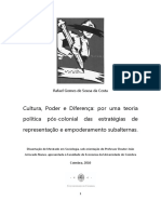 Dissertação de Mestrado Em Sociologia FEUC (Rafael Costa)