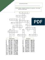 Crucigrama decimales