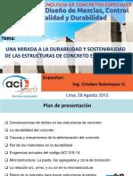 Durabilidad y Sostenibilidad Del Concreto en Siglo XXI - Cristian Sotomayor